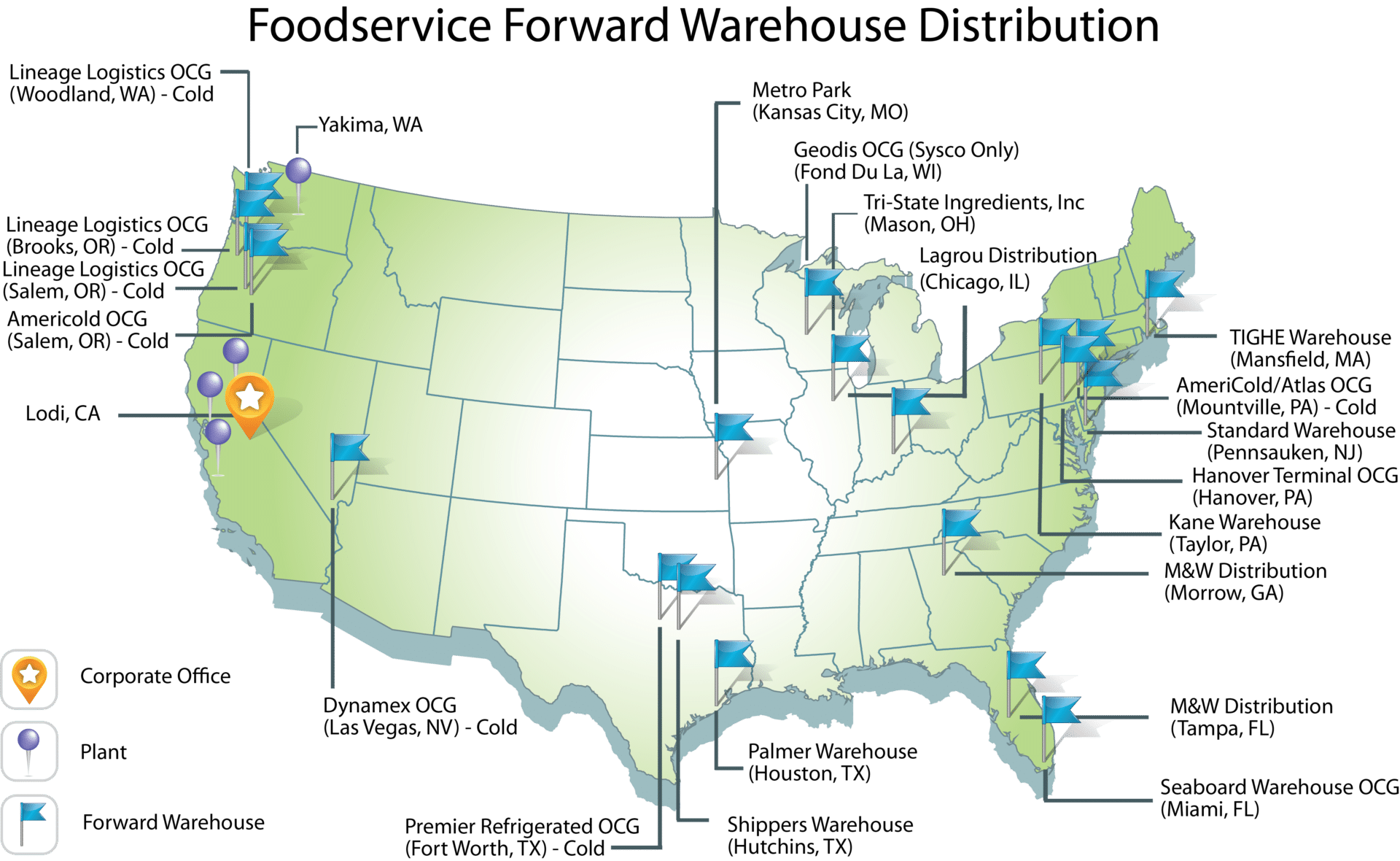 Distribution Map | Pacific Coast Producers