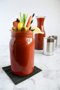 Zesty Homemade Bloody Mary Mix with canned tomatoes
