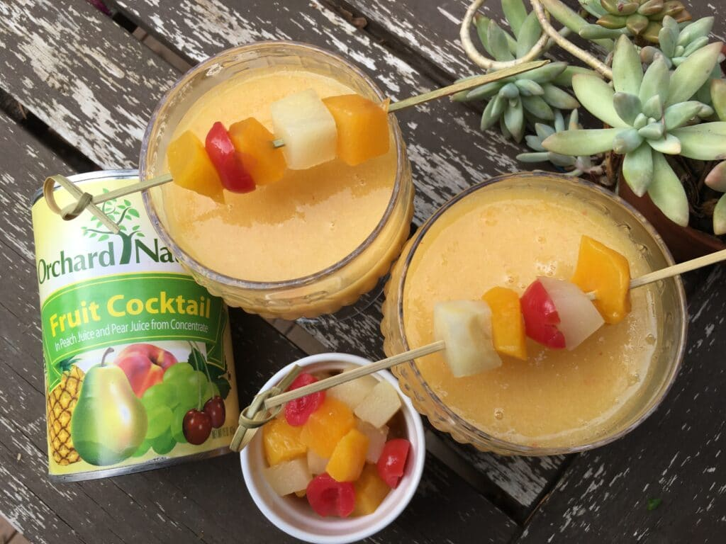 endless summer fruit daiquiri recipe photo with canned fruit cocktail